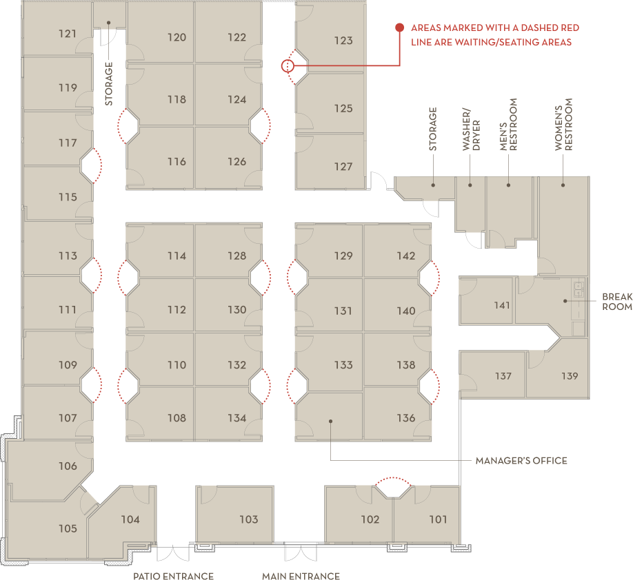 Firewheel Town Center Outdoor Mall Floor Plan